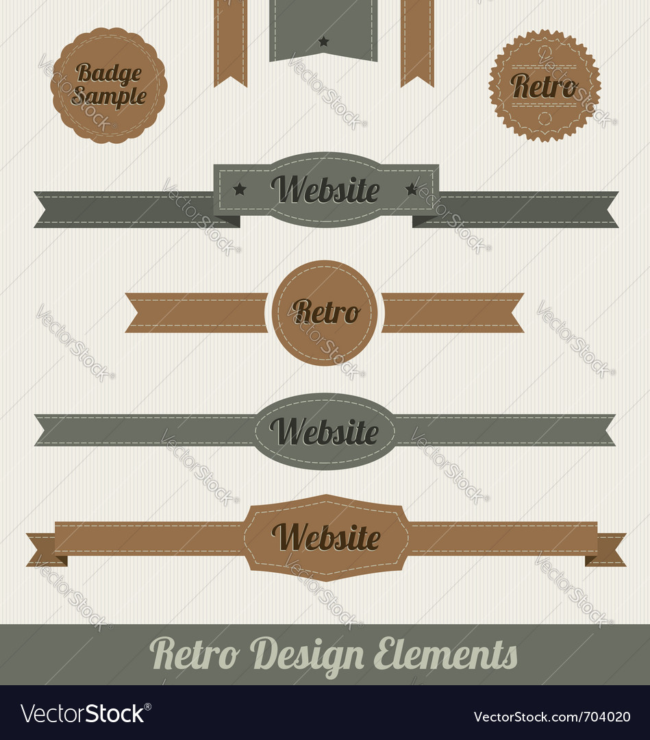 Retro web elements vector | Price: 1 Credit (USD $1)