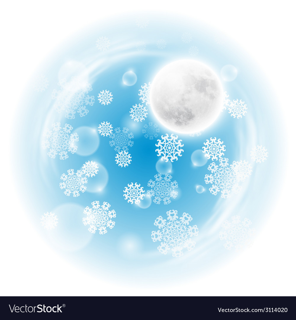Spherical landscape with fullmoon vector | Price: 1 Credit (USD $1)