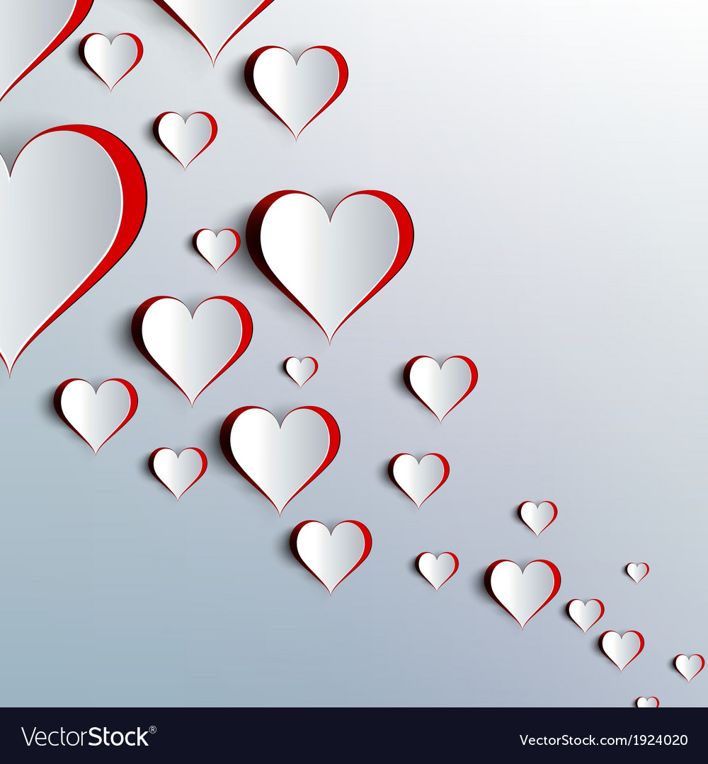 Valentines day abstract paper hearts love vector | Price: 1 Credit (USD $1)