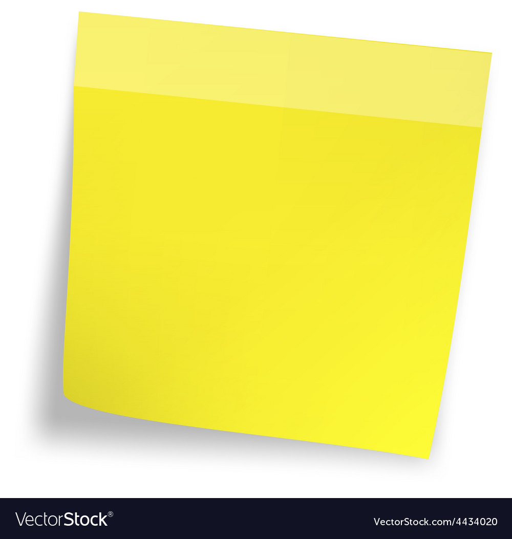 Yellow sticker paper note vector | Price: 1 Credit (USD $1)