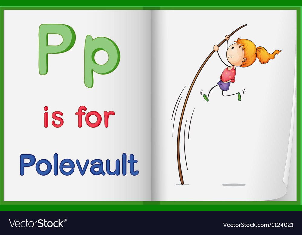 A picture of pole vault in a book vector | Price: 1 Credit (USD $1)
