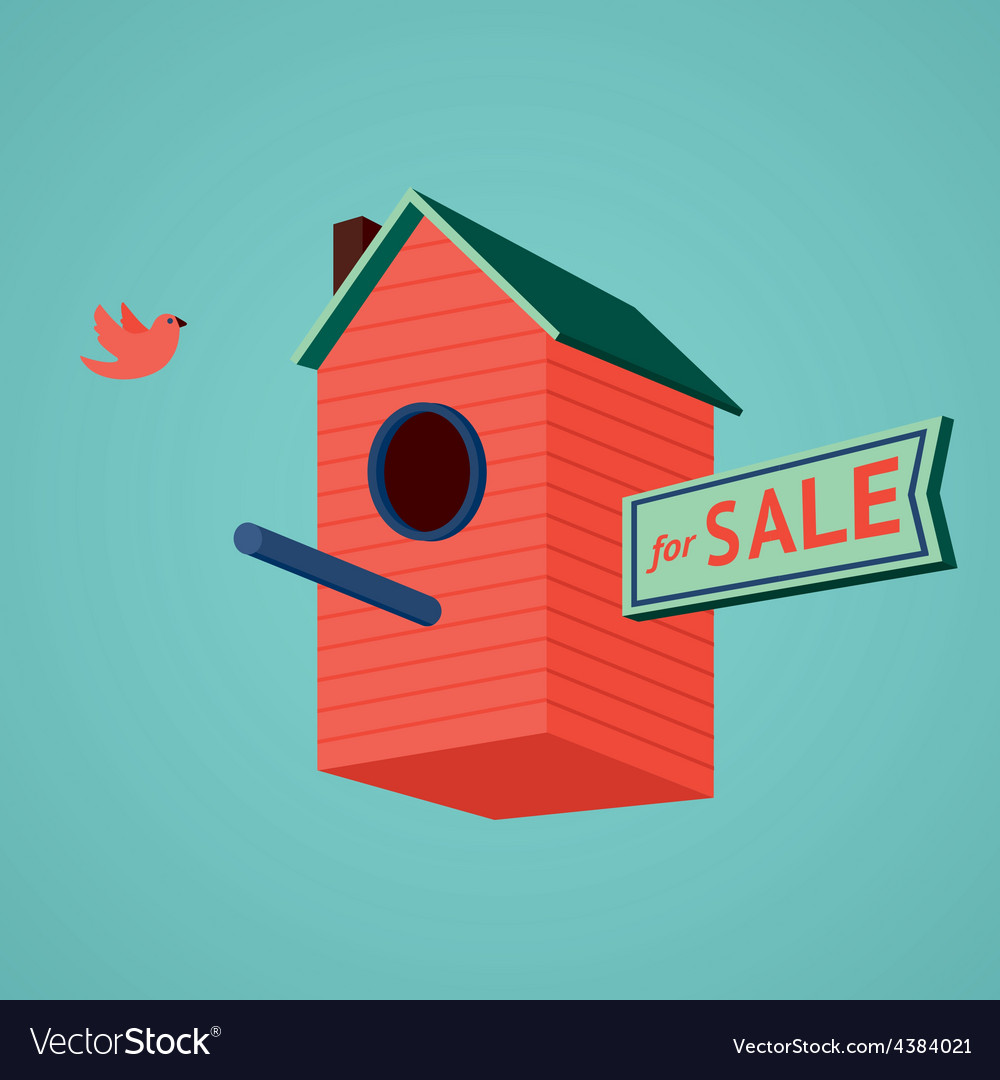 Birds house for sale vector | Price: 3 Credit (USD $3)
