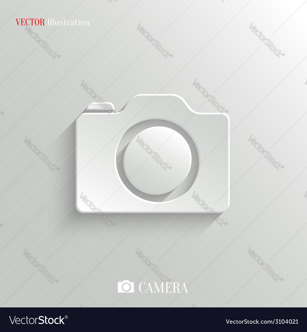 Camera icon - white app button vector | Price: 1 Credit (USD $1)