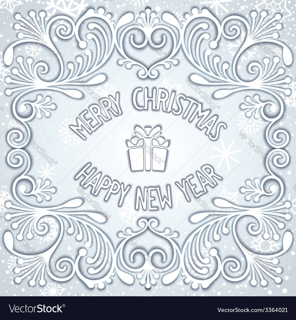 Christmas snowy relief design vector | Price: 1 Credit (USD $1)