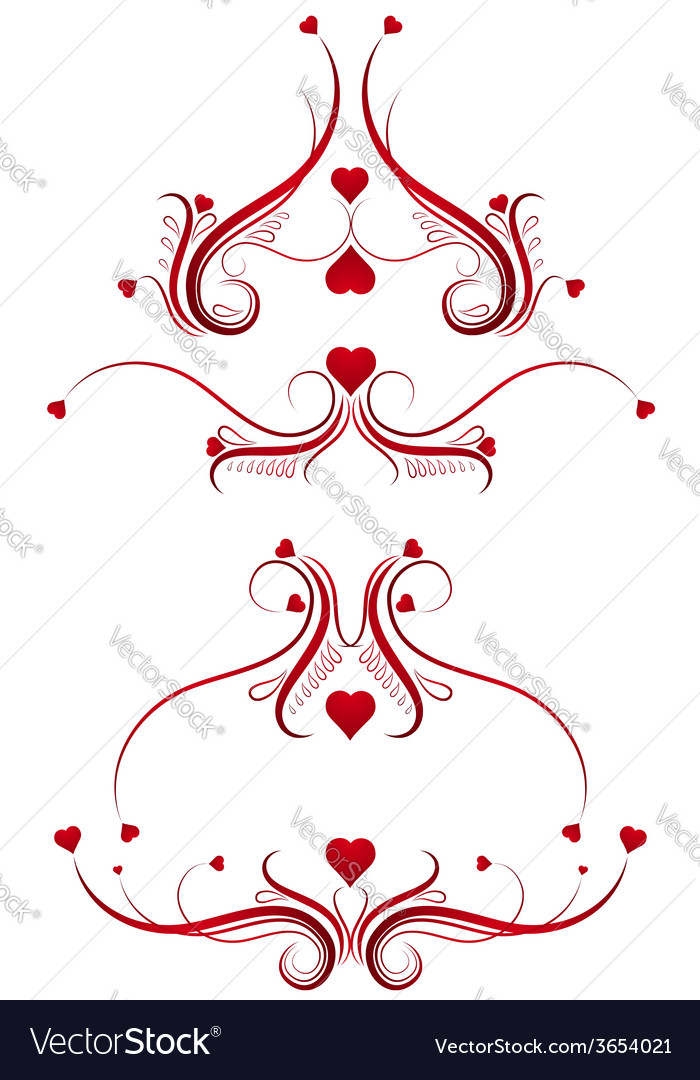 Decorative ornament with lovely heart vector | Price: 1 Credit (USD $1)