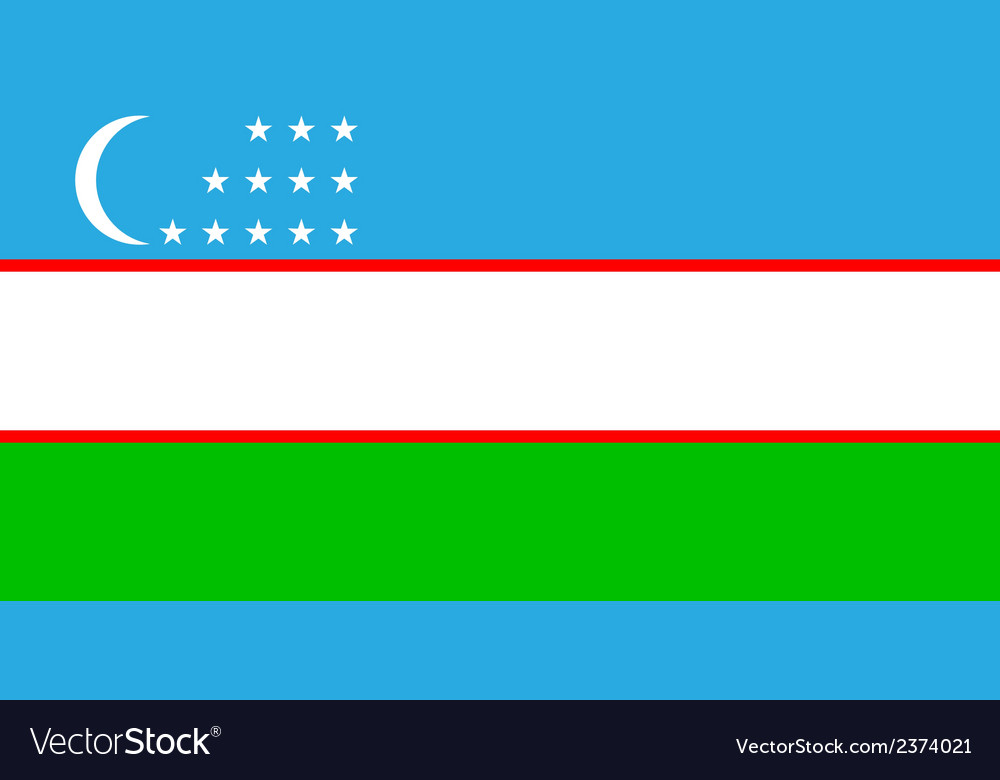 Flag of uzbekistan vector   Price: 1 Credit (USD $1)