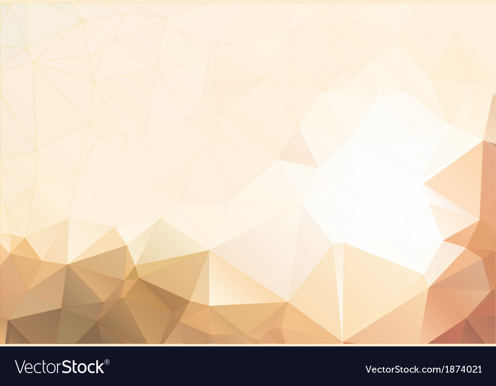 Flesh color abstract background polygon vector | Price: 1 Credit (USD $1)