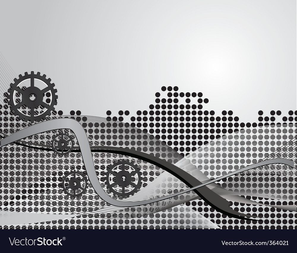 Gray abstract background with gears vector | Price: 1 Credit (USD $1)