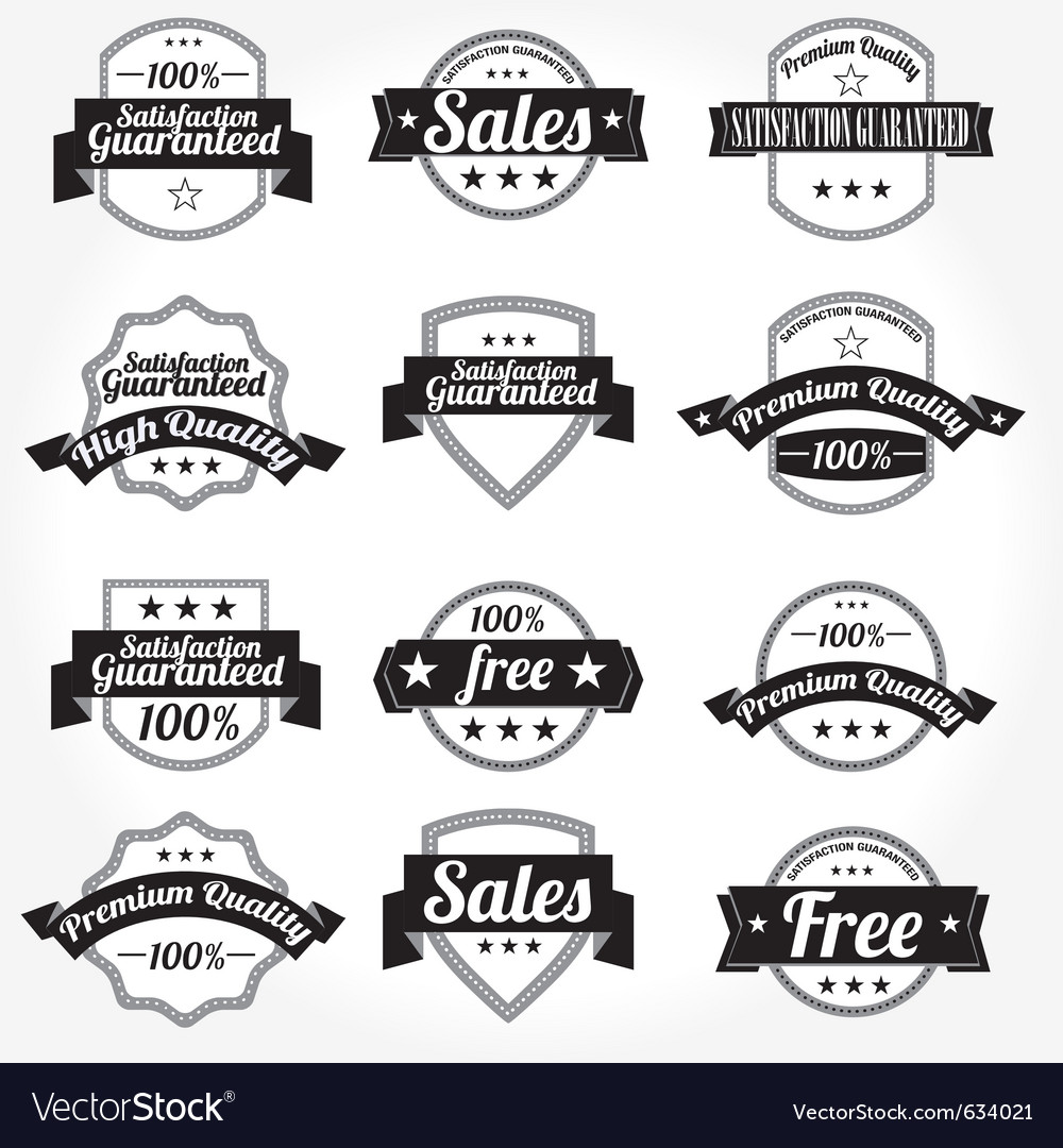 Labels retro design vector | Price: 1 Credit (USD $1)