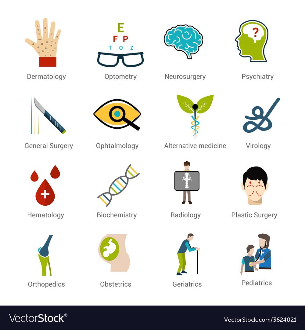 Medical specialties set vector | Price: 1 Credit (USD $1)