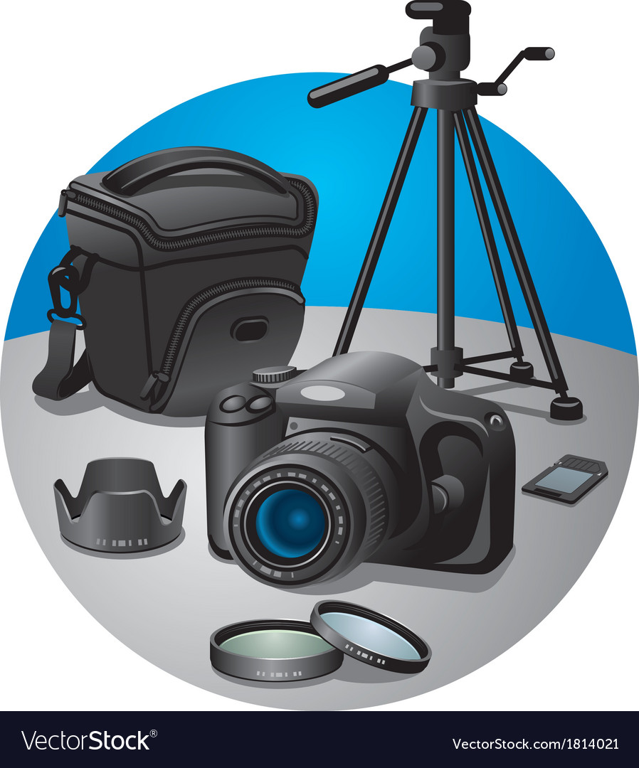 Photography equipment vector | Price: 1 Credit (USD $1)