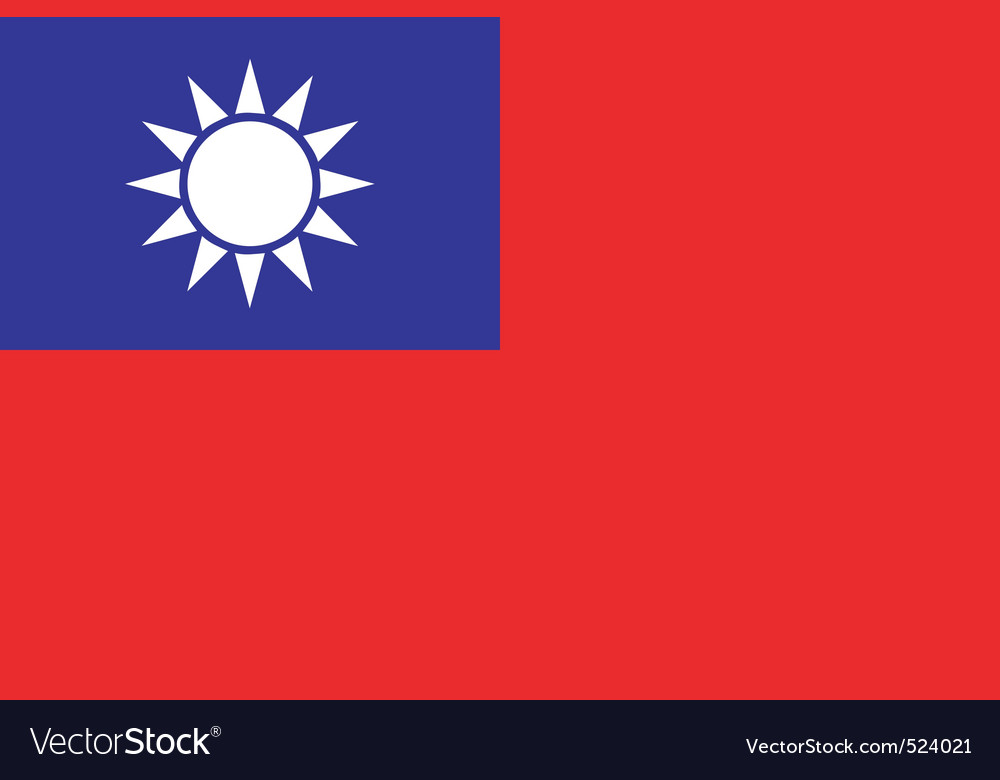 Republic of china flag vector | Price: 1 Credit (USD $1)