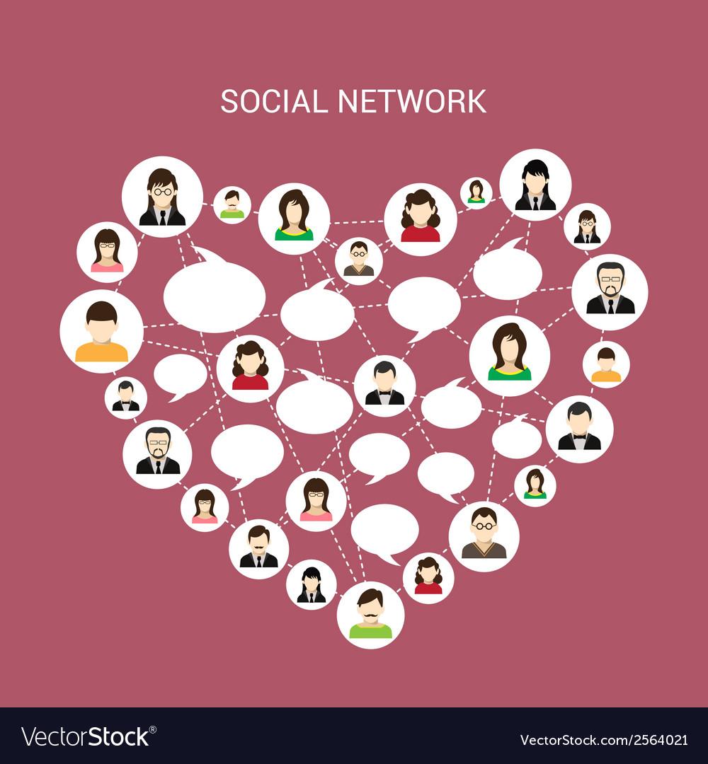 Social network heart vector | Price: 1 Credit (USD $1)