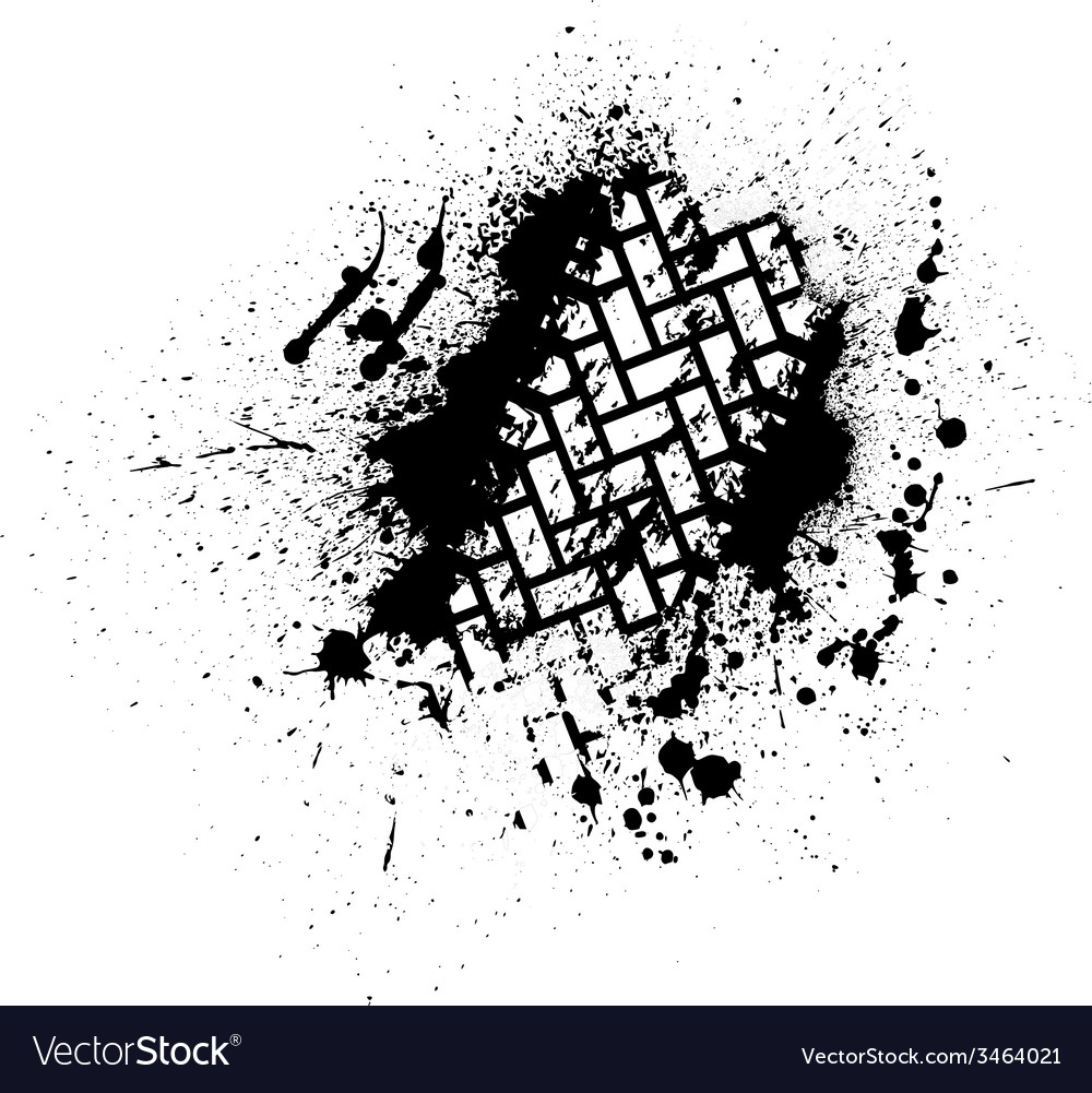 Tire track with ink blots vector | Price: 1 Credit (USD $1)
