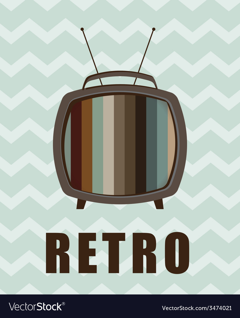 Tv retro design vector | Price: 1 Credit (USD $1)