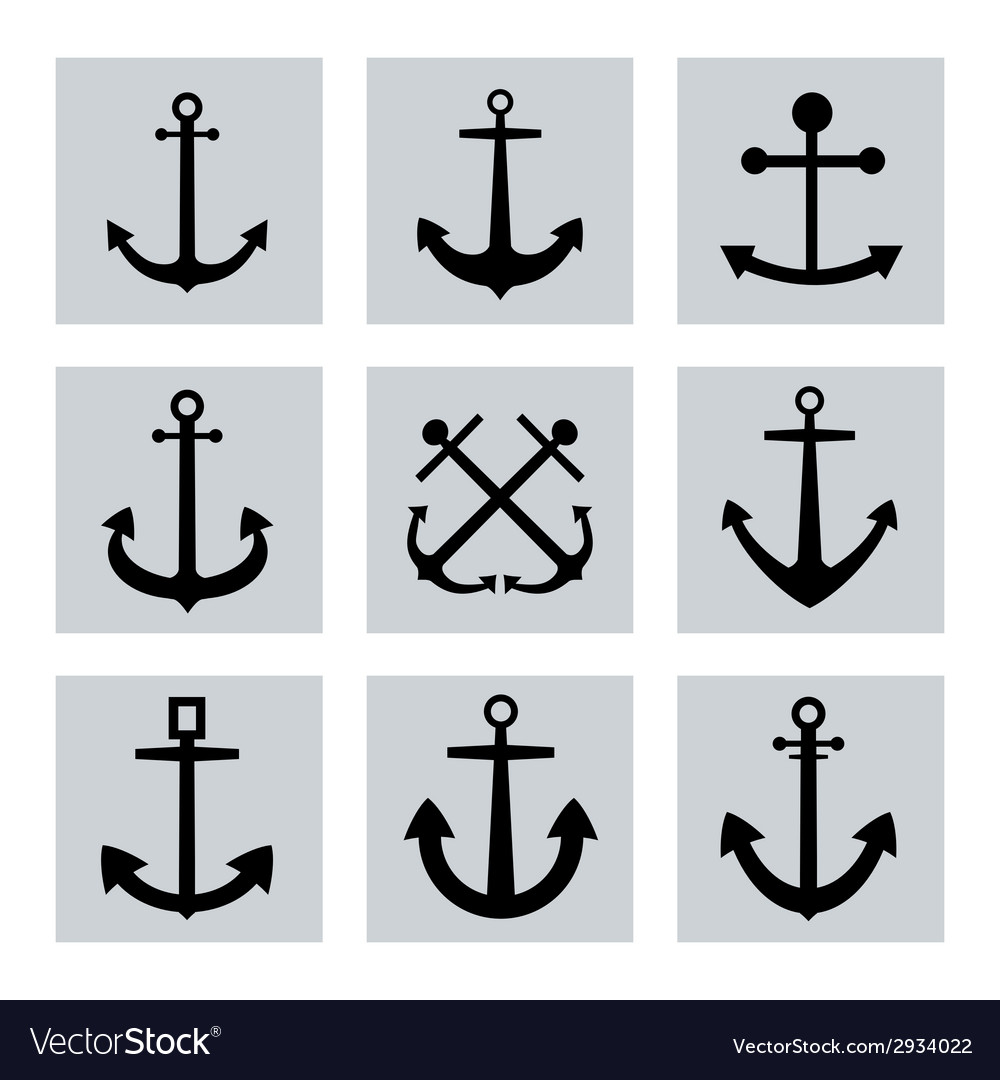 Anchor icon flat vector | Price: 1 Credit (USD $1)