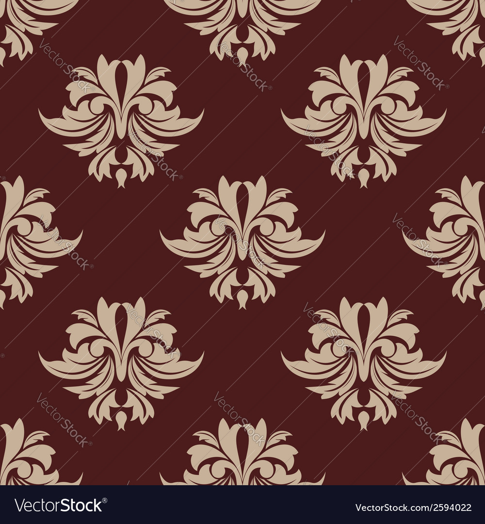 Beige and brown seamless arabesque pattern vector | Price: 1 Credit (USD $1)
