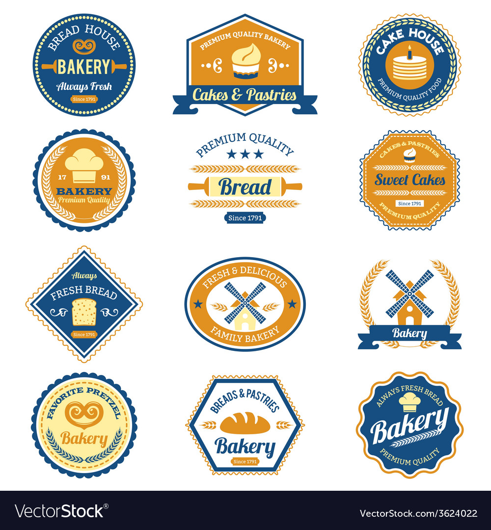 Cupcake bakery labels vector | Price: 1 Credit (USD $1)