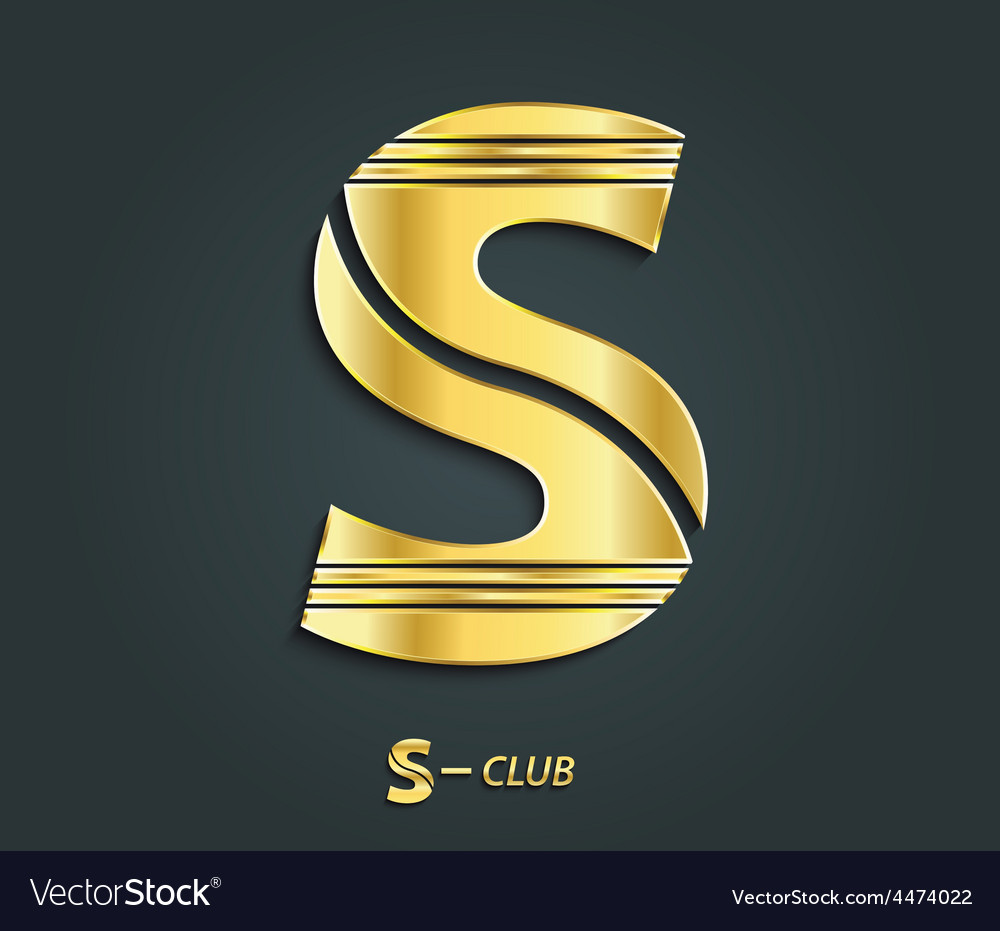 Golden symbol from alphabet letter s vector | Price: 1 Credit (USD $1)
