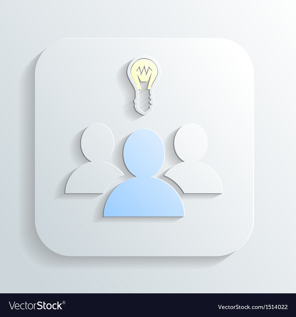 Idea of the icon vector | Price: 1 Credit (USD $1)