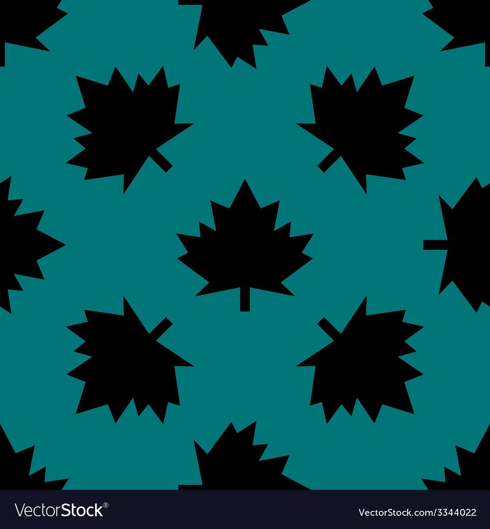 Maple leaf wb icon flat design seamless gray vector   Price: 1 Credit (USD $1)