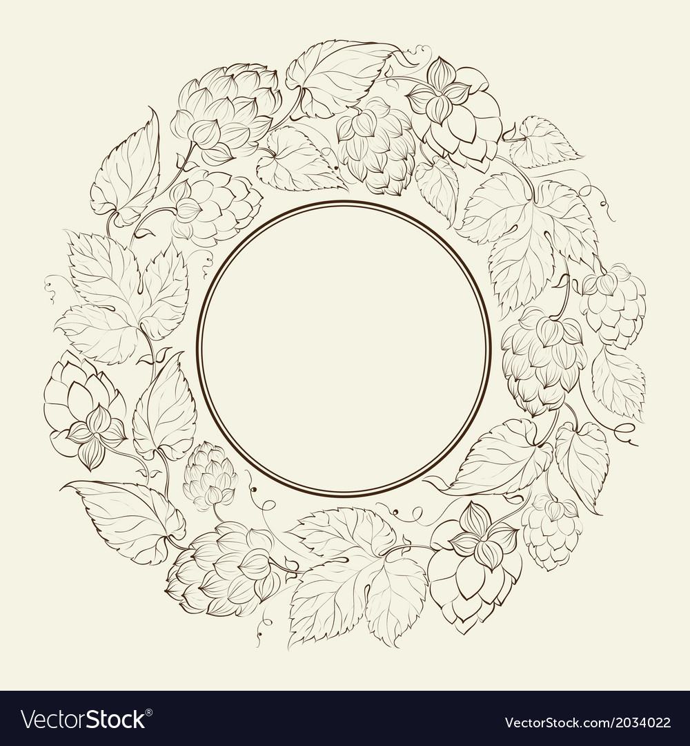 Monochrome circle of fruit hops vector   Price: 1 Credit (USD $1)