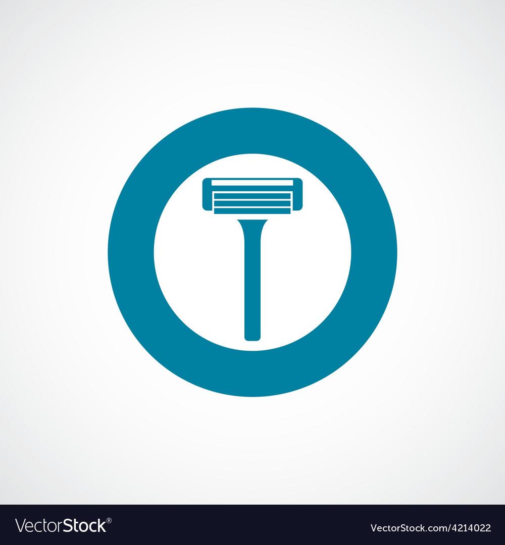 Razor icon bold blue circle border vector | Price: 1 Credit (USD $1)