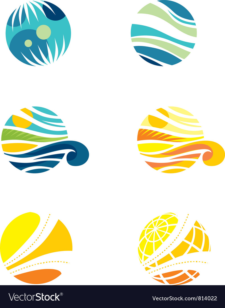 Set of travel icons vector | Price: 1 Credit (USD $1)