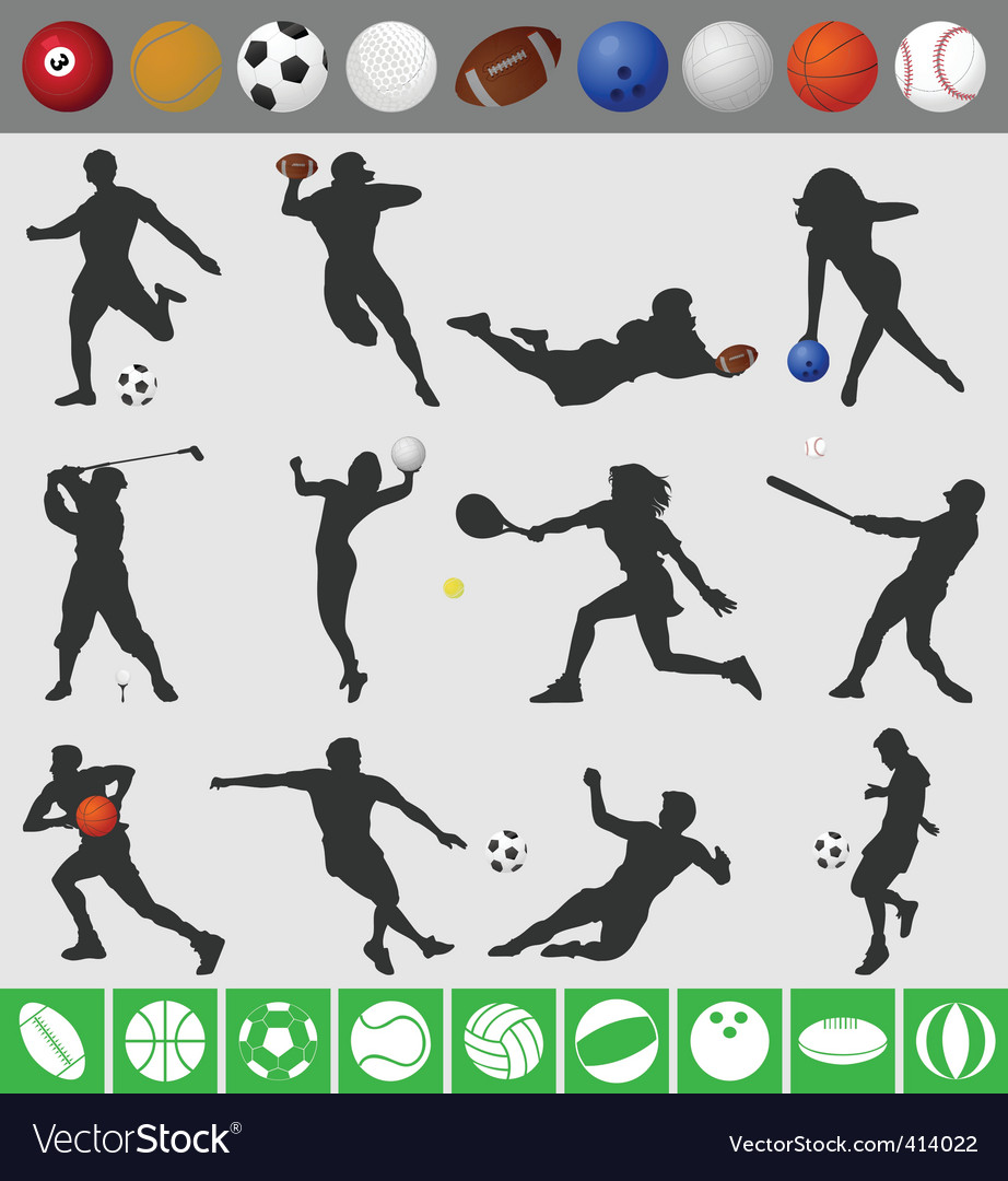Sports with a ball vector