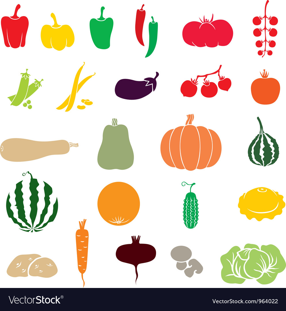 Vegetables color vector | Price: 1 Credit (USD $1)