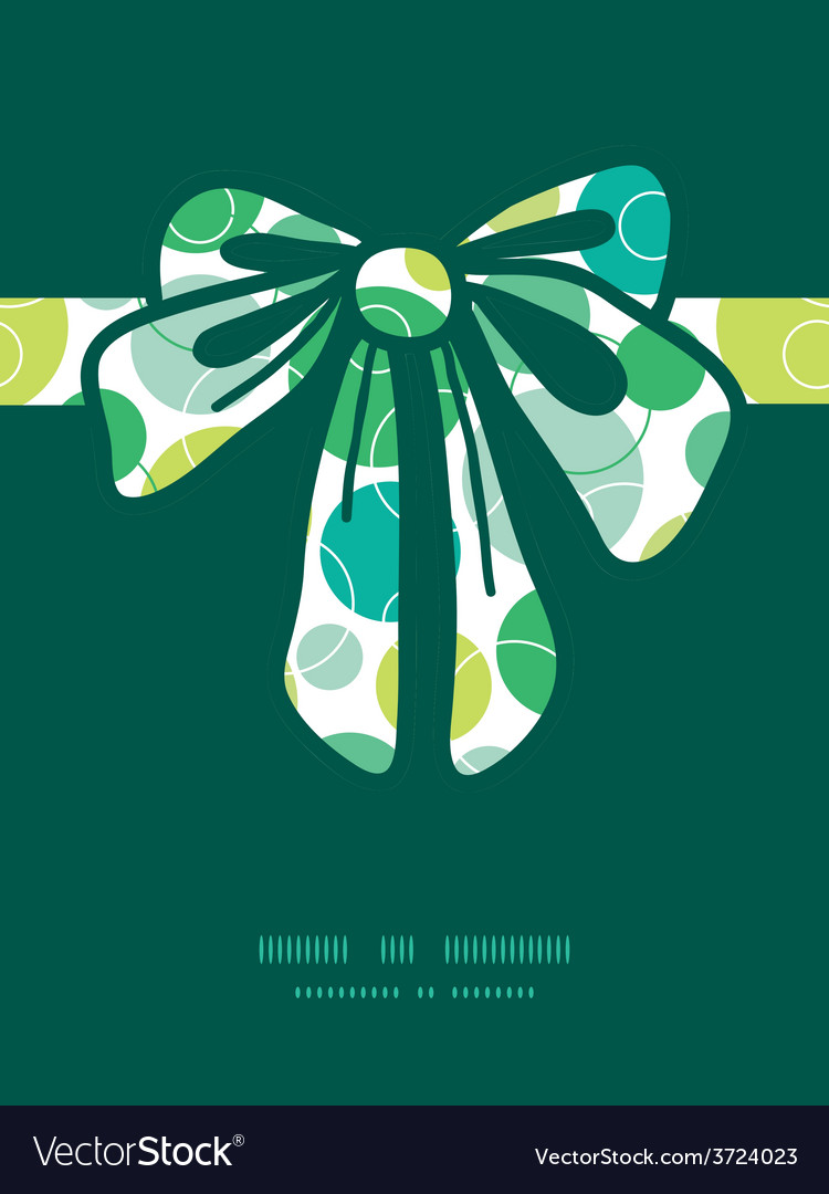 Abstract green circles gift bow silhouette vector | Price: 1 Credit (USD $1)