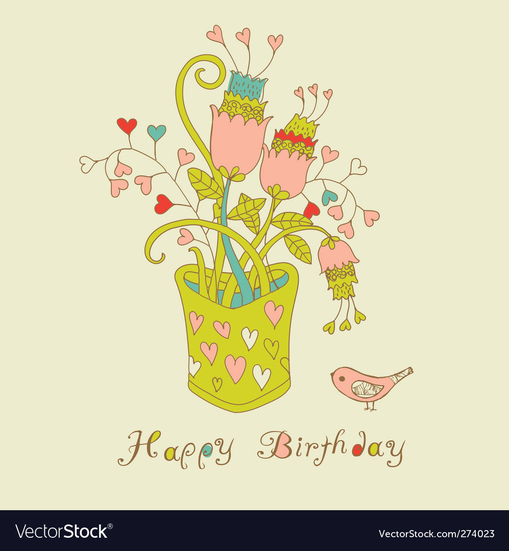 Birthday card vector | Price: 3 Credit (USD $3)