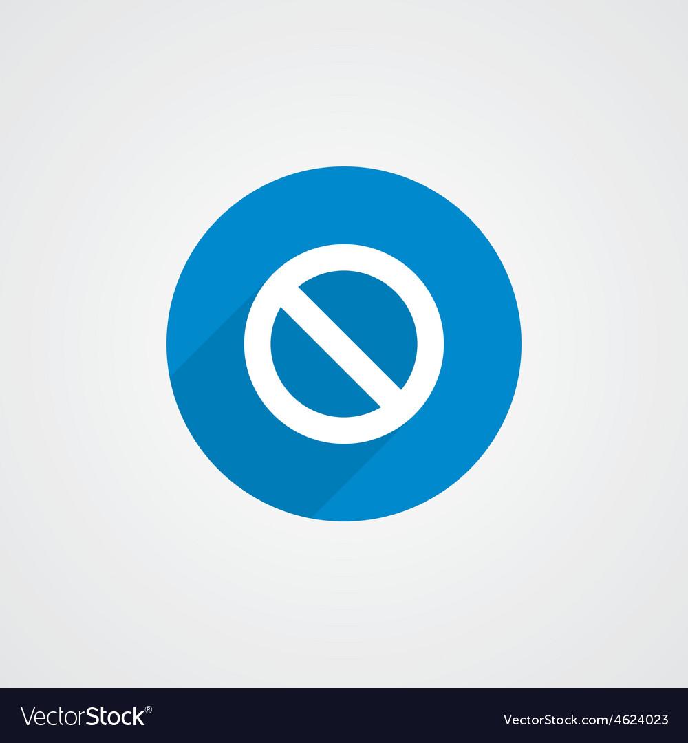 Blue flat prohibition icon vector | Price: 1 Credit (USD $1)