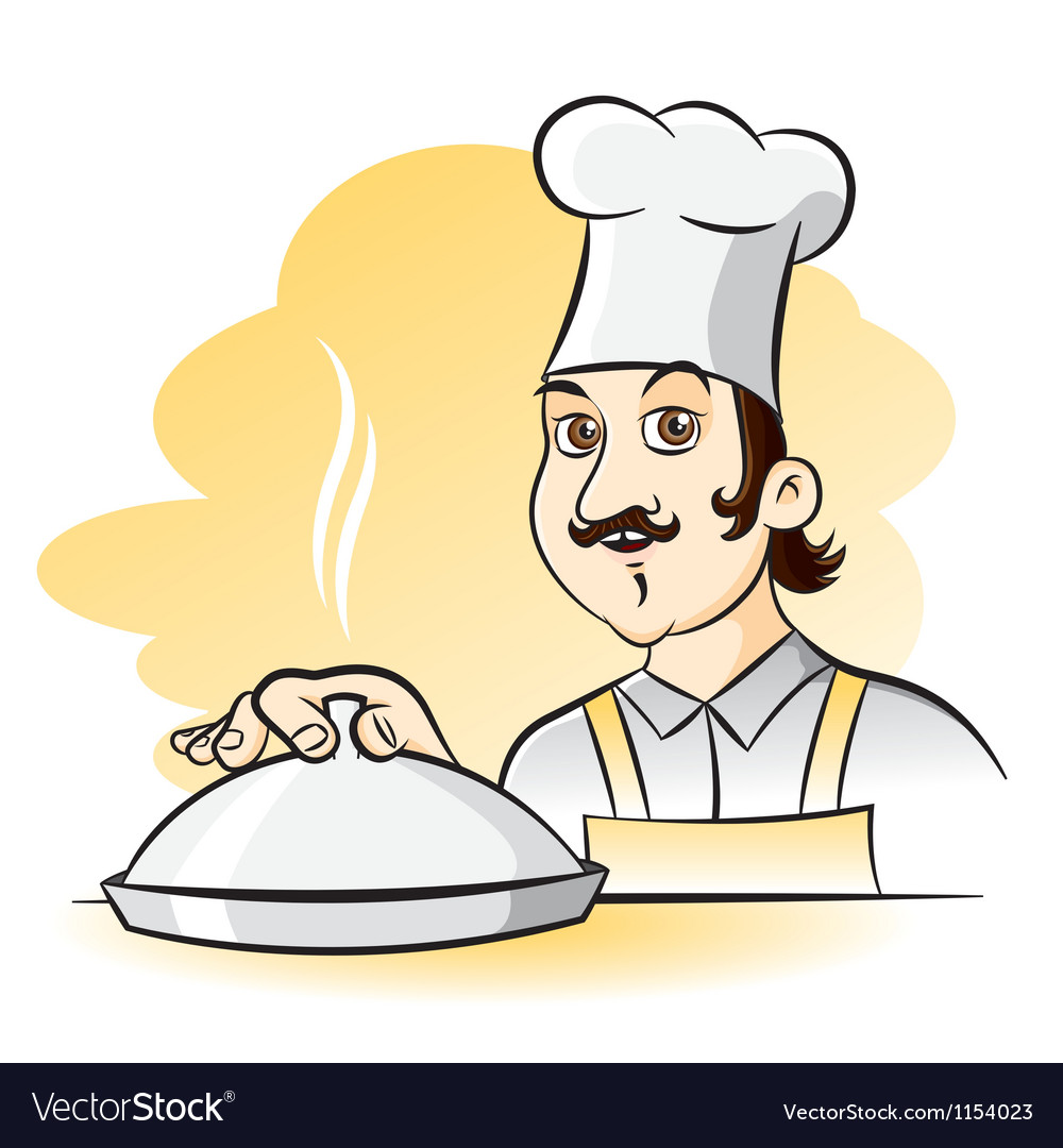 Cheerful chef cook cartoon vector | Price: 1 Credit (USD $1)