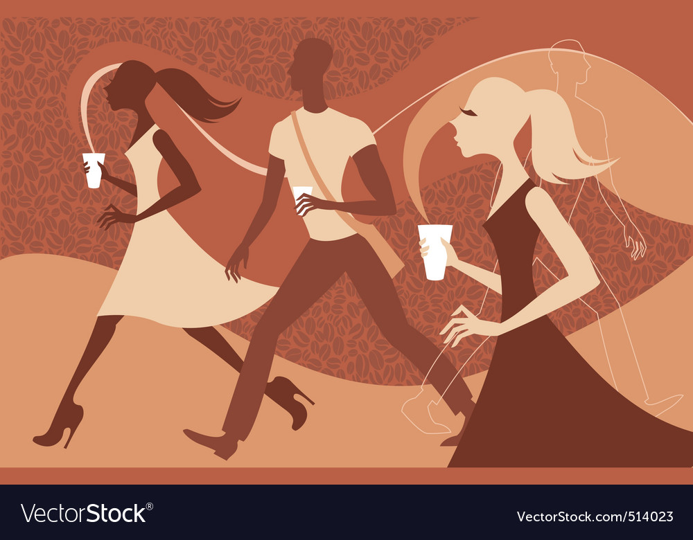 Coffee people vector   Price: 3 Credit (USD $3)