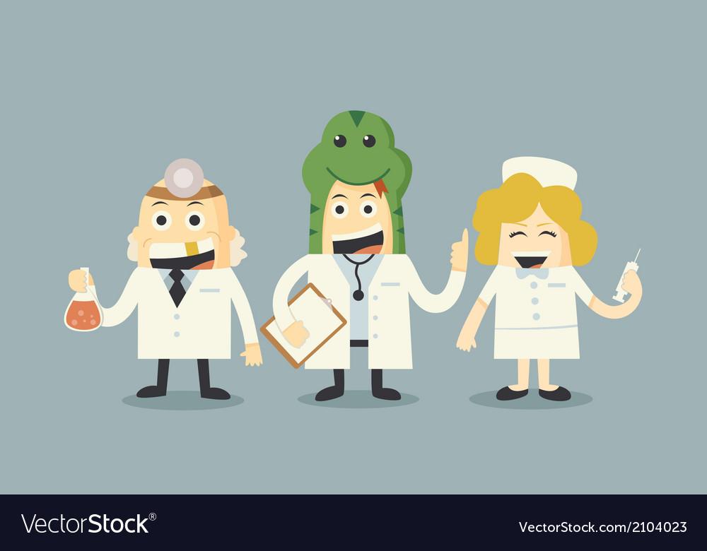 Doctor and nurse team set vector   Price: 1 Credit (USD $1)