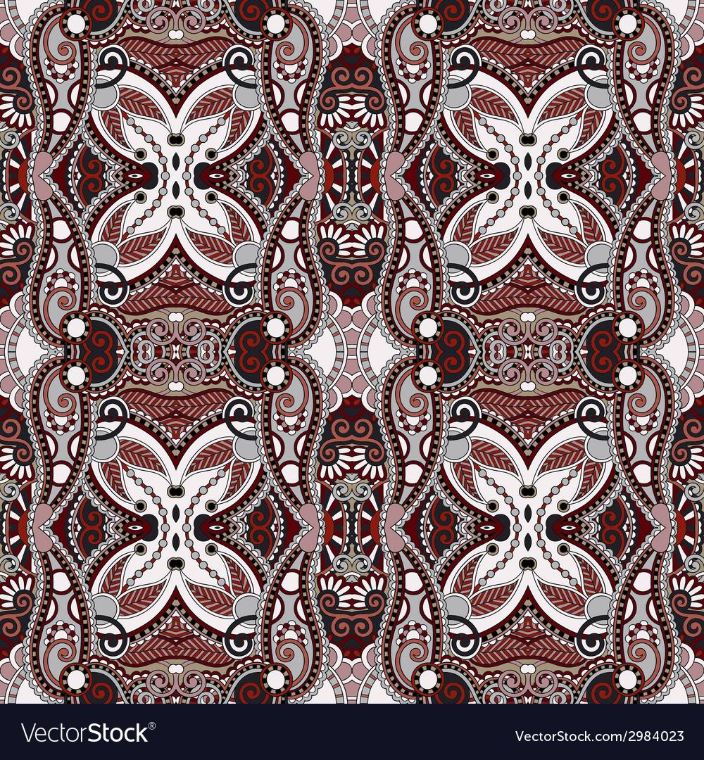 Geometry vintage floral seamless pattern vector   Price: 1 Credit (USD $1)