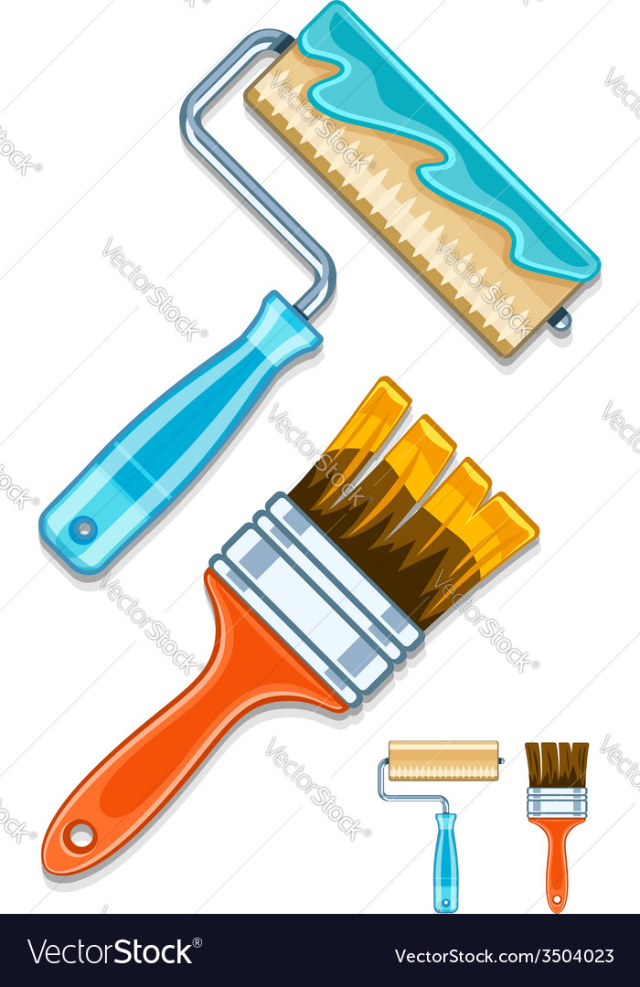 Maintenance tools brushes and vector | Price: 1 Credit (USD $1)