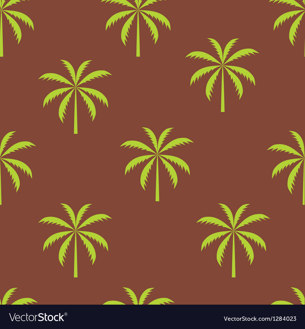Palm tree seamless pattern vector | Price: 1 Credit (USD $1)