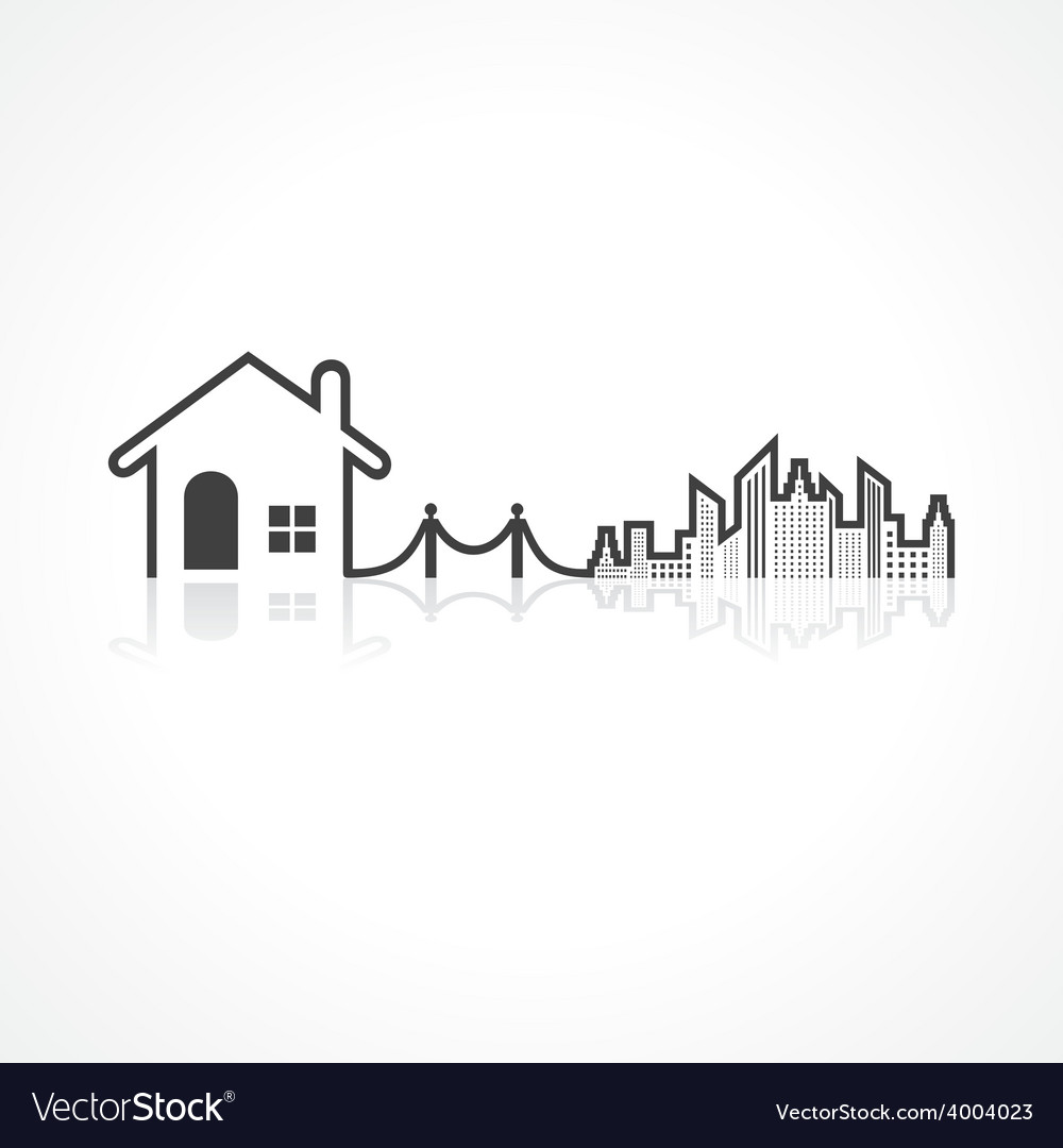 Real estate background for sale property concept vector | Price: 1 Credit (USD $1)
