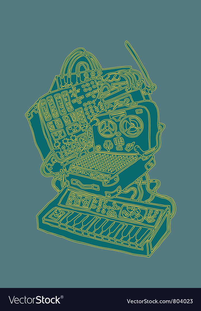 Recording equipment vector | Price: 1 Credit (USD $1)
