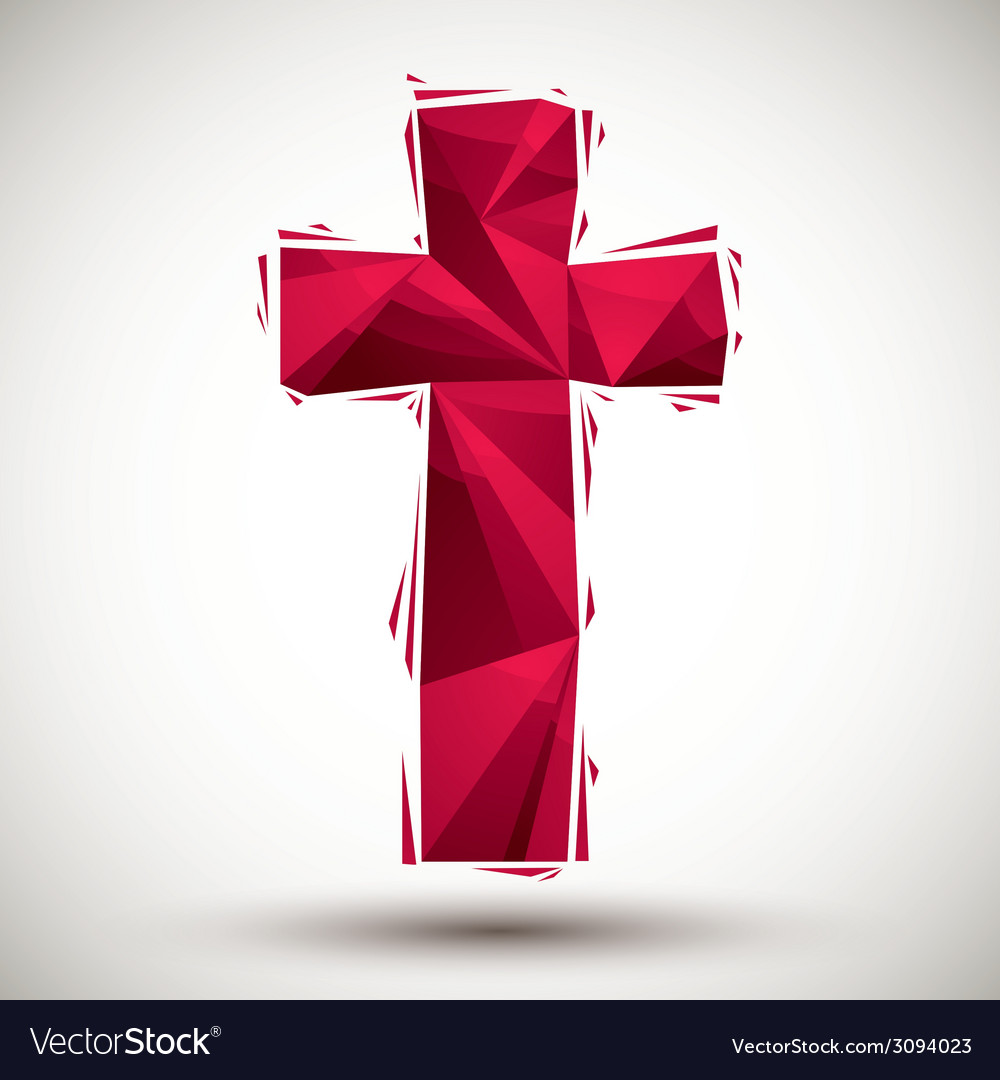 Red cross geometric icon made in 3d modern style vector   Price: 1 Credit (USD $1)