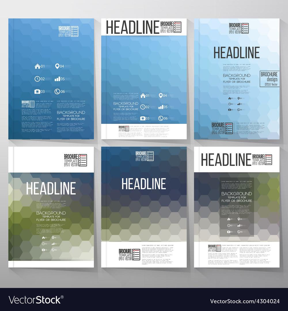 Abstract blurred hexagonal backgrounds brochure vector   Price: 1 Credit (USD $1)