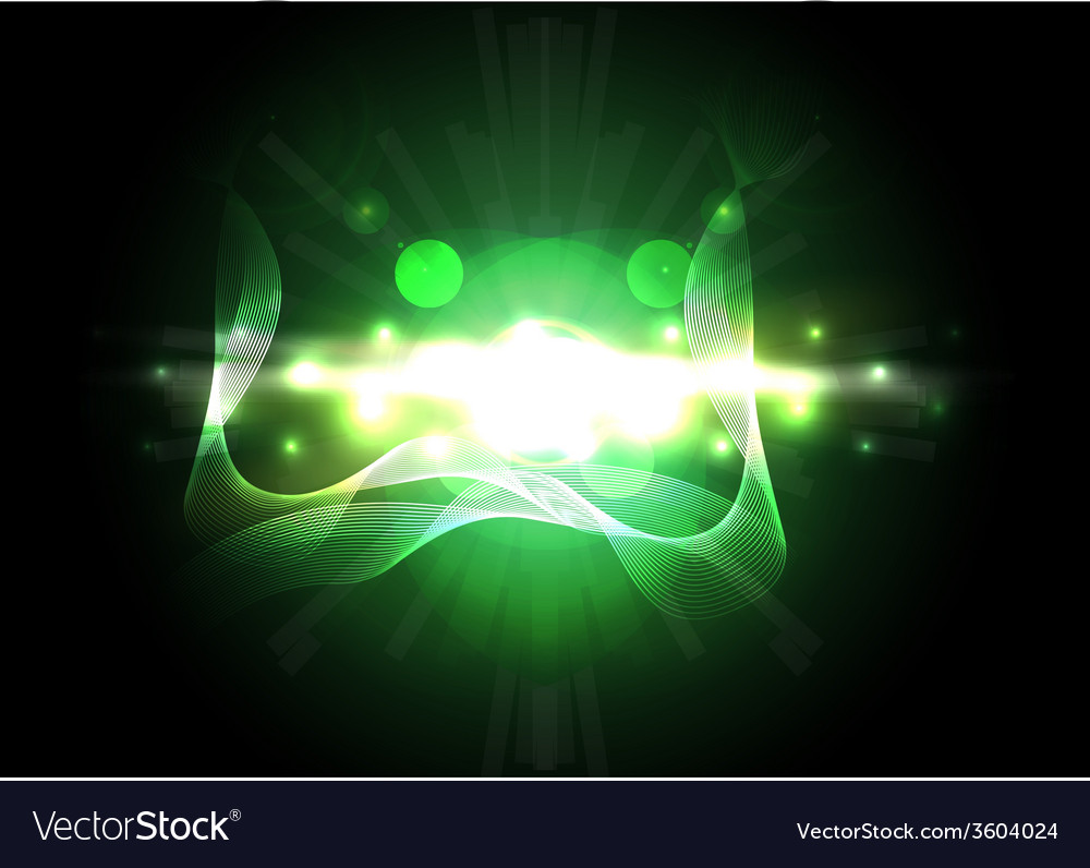 Abstract green lighting background vector | Price: 1 Credit (USD $1)