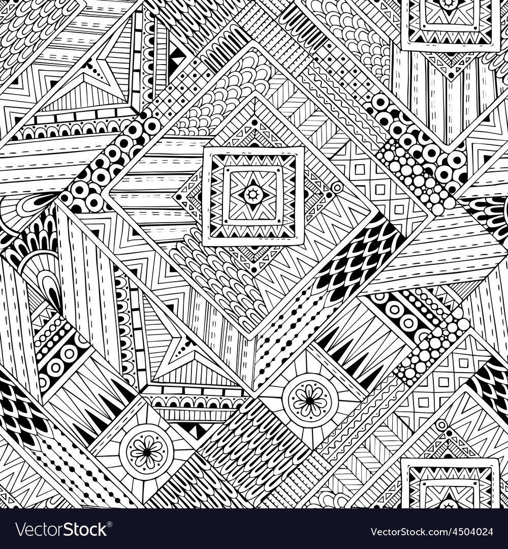 Abstract striped textured geometric tribal vector | Price: 1 Credit (USD $1)