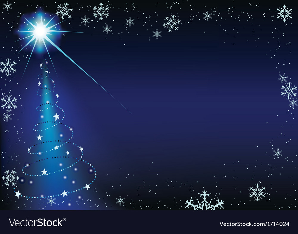 Blue glowing xmas tree vector | Price: 1 Credit (USD $1)