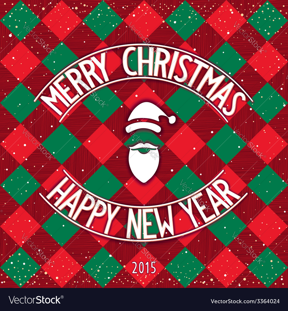 Christmas classic card design vector | Price: 1 Credit (USD $1)