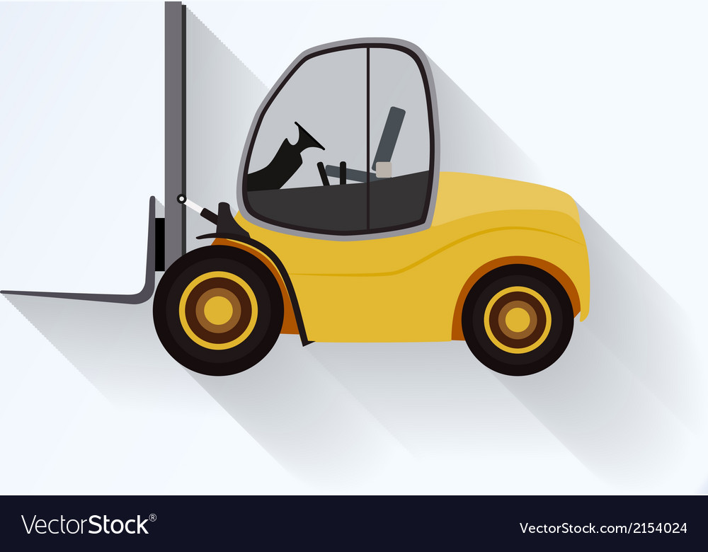 Lift-truck flat icon vector | Price: 1 Credit (USD $1)
