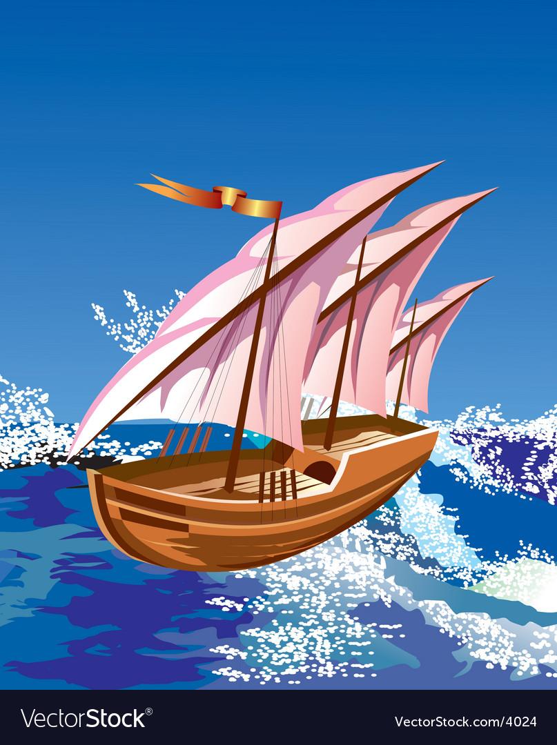 Sail boat vector | Price: 3 Credit (USD $3)