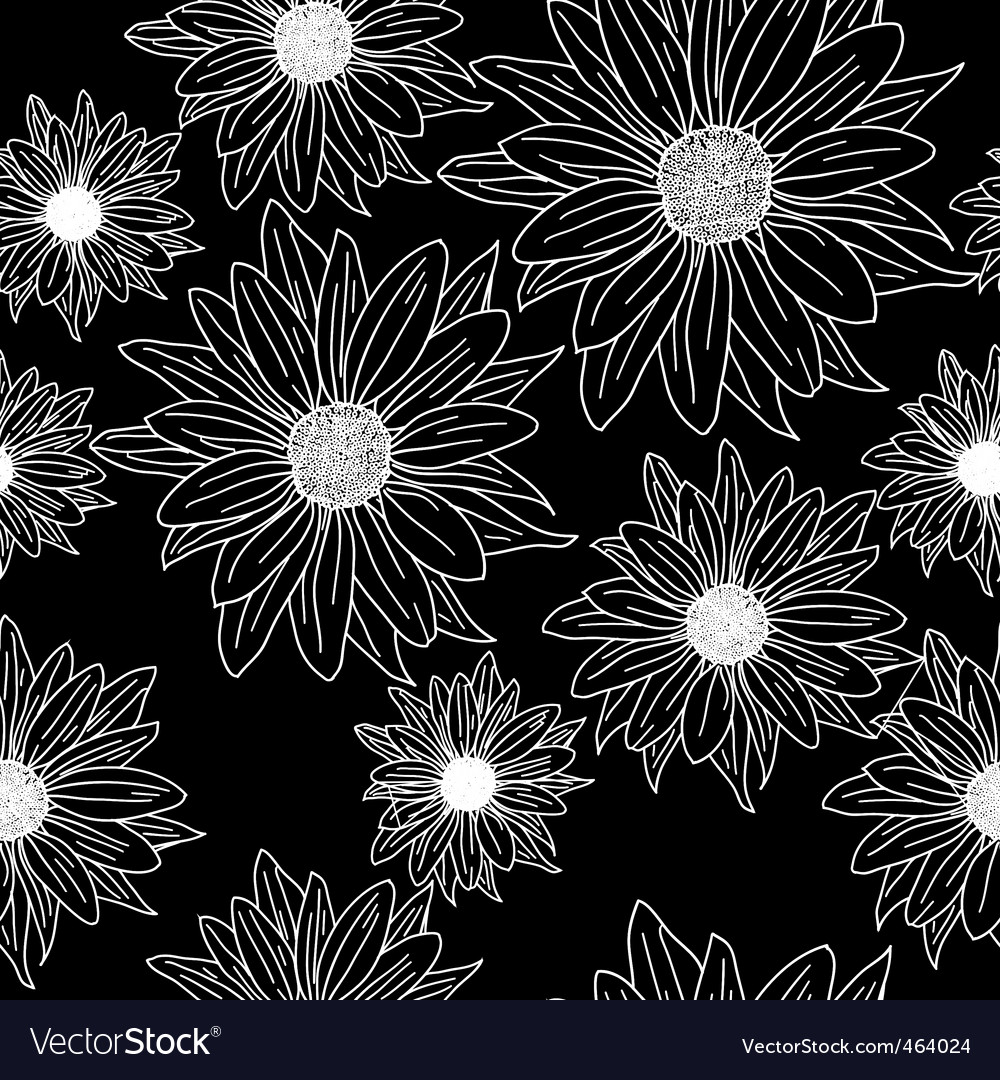 Seamless wallpaper with beautiful flowers vector | Price: 1 Credit (USD $1)